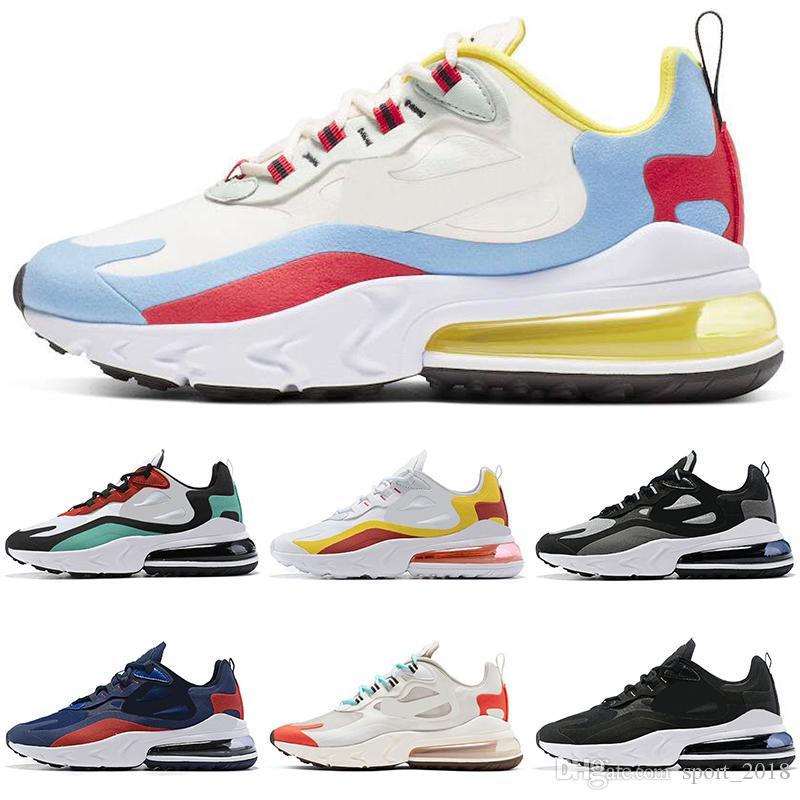 Nike air max react 270 2019 New React Designer Laufschuhe für Männer Frauen schwarz weiß Herren Turnschuhe Sport Turnschuhe Kissen atmungsaktiv