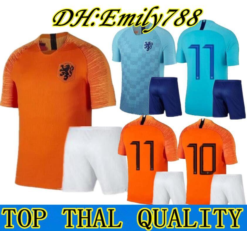 41d44b03894 2019 2018 2019 News Adult Kit Nederland Soccer Jersey 1819 Home Orange Netherlands  HOLLAND ROBBEN SNEIJDER V.Persie Dutch Away Football Shirts From Emily788  ...