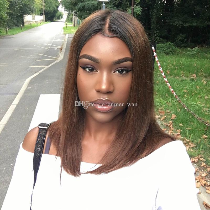 Brazilian 100% human hair wig full lace wigs #1bt30 ombre color lace front wigs natural straight with baby hair