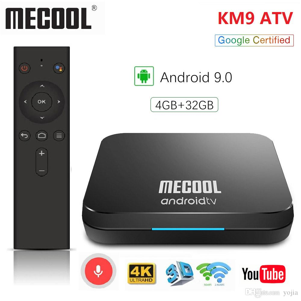 Mecool KM9 KM3 ATV Google Certified 4G 32G 64G Android 9 0 TV Box Amlogic  S905X2 2 4G/5G Dual WIFI TV BOX