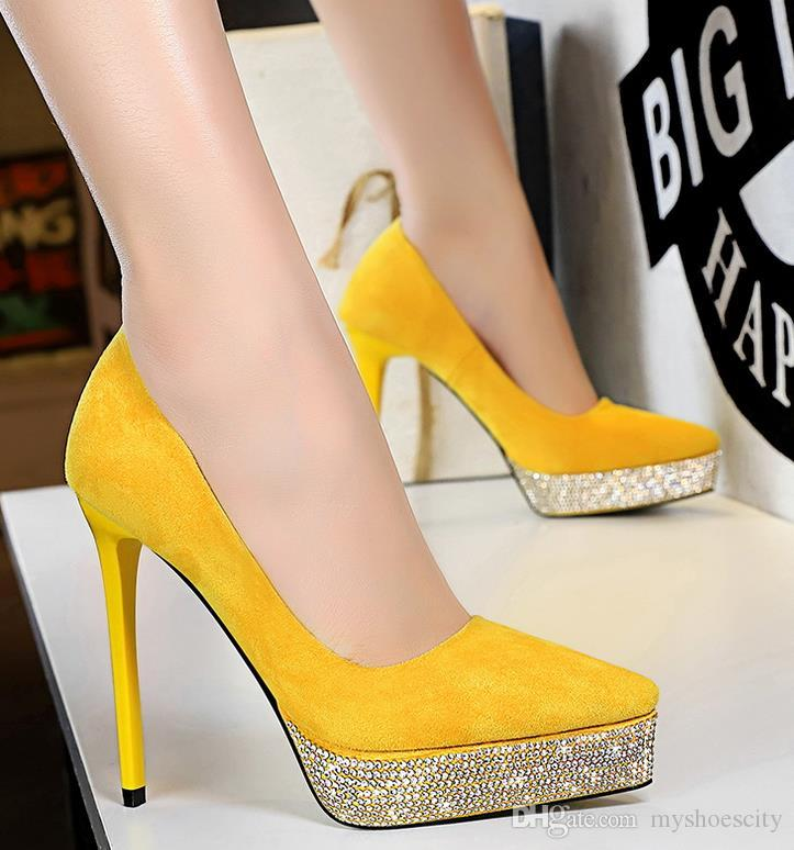 with box elegant green rhinestone pointed stiletto heels pumps prom gown dress shoes fashion luxury designer women shoes size 34 to 40