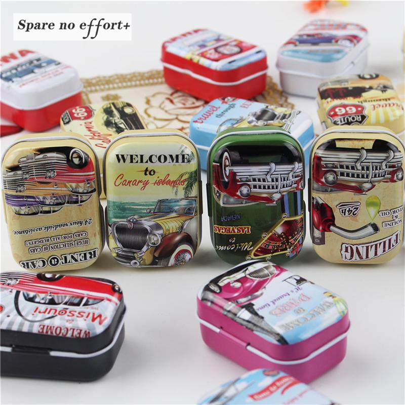 New Multi Functional Round Iron Tin Small Storage Boxes & Bins Jewelry Coin  Earphone Box Zipper Bag Candy Pill Case