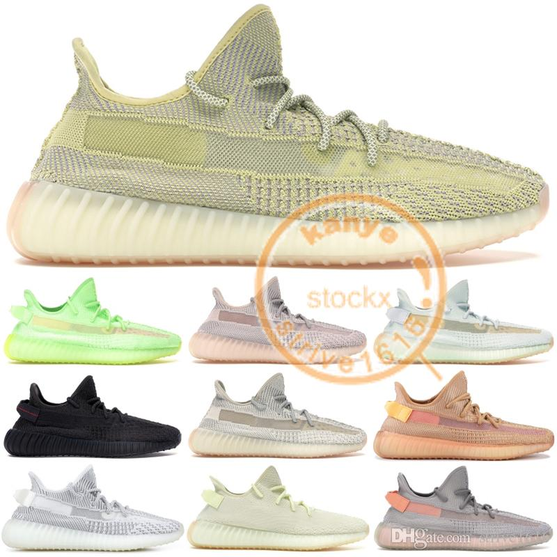 5c99baa82a Großhandel 2019 Kanye West Designer Schuhe Schwarz Static Reflective ...