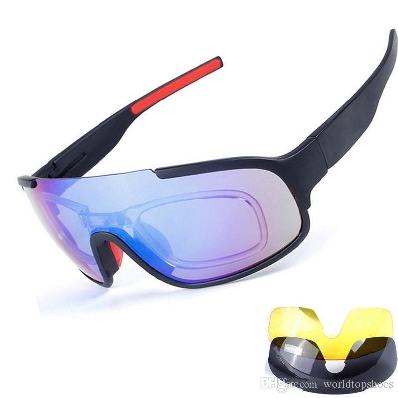 a5a57c6110 New Bicycle Cycling Glasses 3 Lens UV Bike Sunglasses Sport Men ...