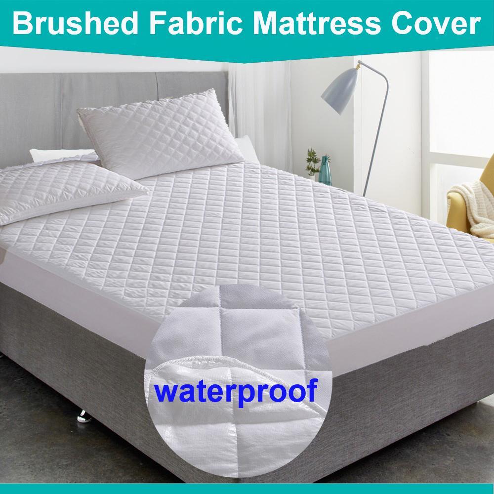 Großhandel Bed Cover Gebürstetem Stoff Stepp Matratze Protector