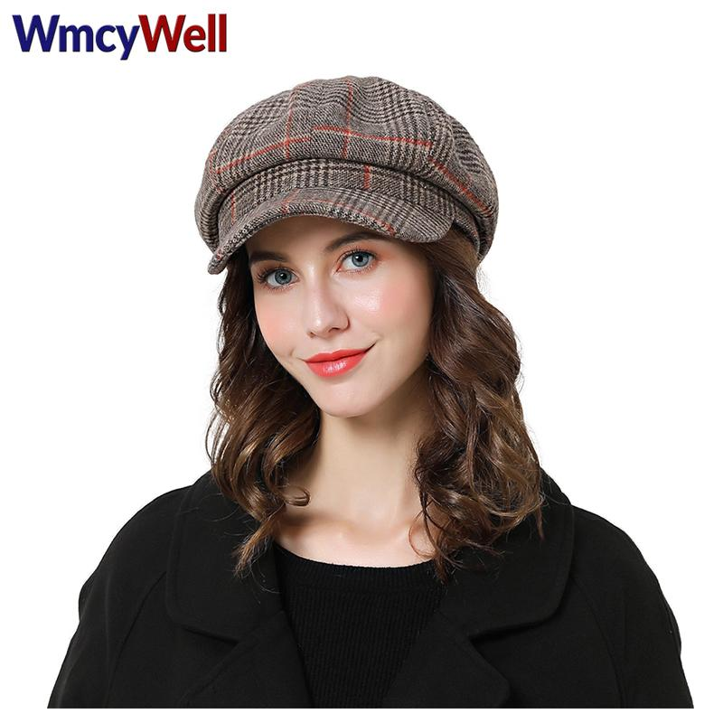 cbafd1d84e9e0 WmcyWell Fashion Charm Women Men Beret Hat Corduroy Duck Tongue Striped  Plaid Beret Cap Adjustable Men Women s Casual Hats. Store-wide Discount