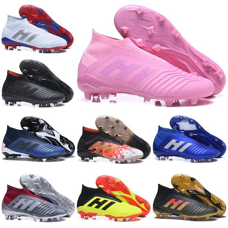 4073c13ca 2019 Kids High Ankle Football Boots Youth Boys Predator Telstar 18+ ...