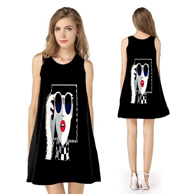 86bb743eadac4 2019 women's dress summer new cross-border sizzling hot sale strapless  black loose skirt explosion