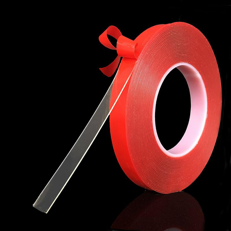 3m 10mm Red Transparent Double Sided Tape No Trace High Strength Adhesive PET Sticker For Car Phone Table HHA114