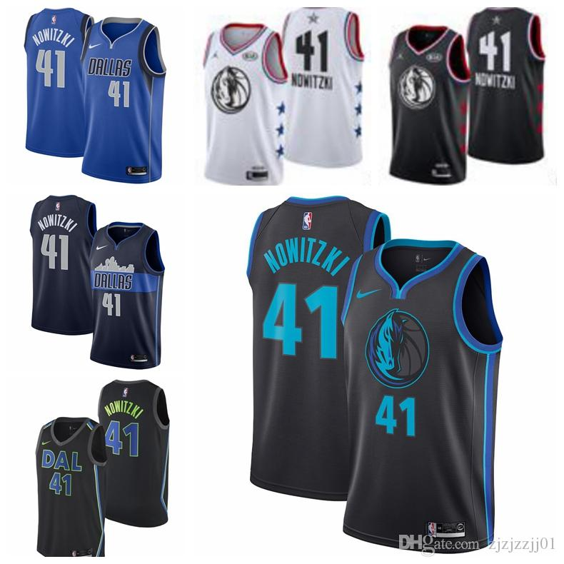 new styles 743e2 fdc42 2019 77 Doncic Mavericks Jersey The City Dallas 1 Smiths 41 Nowitzkis  Basketball Jersey NEW