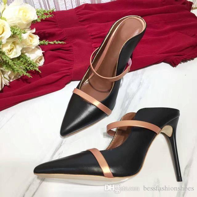 0391b019d0fcb Großhandel Sexy Kleid High Heel Schwarz Damen Schuhe Leder Seide Mules  Spitz Slip On Schuhe High Heels Neue Mode Frauen Kleid Party Schuhe Von  Ado524, ...