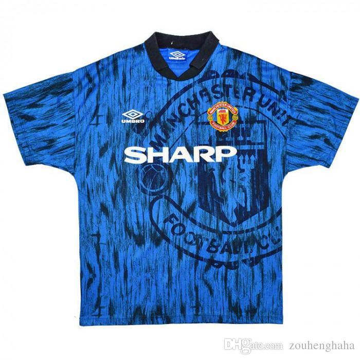 online retailer 7afaa 69d43 1992-93 1994 Man Utd Retro Soccer Jersey Beckham Giggs Stam man utd Third  home away third Cantona Kanchelskis football shirt