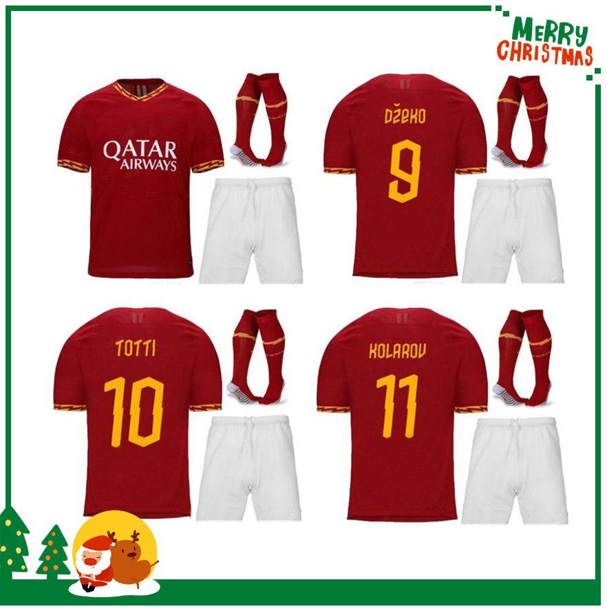 853195274 2019 19 20 Roma Kids Kit Boy Child Home Away Soccer TOTTI ROMA DZEKO ...