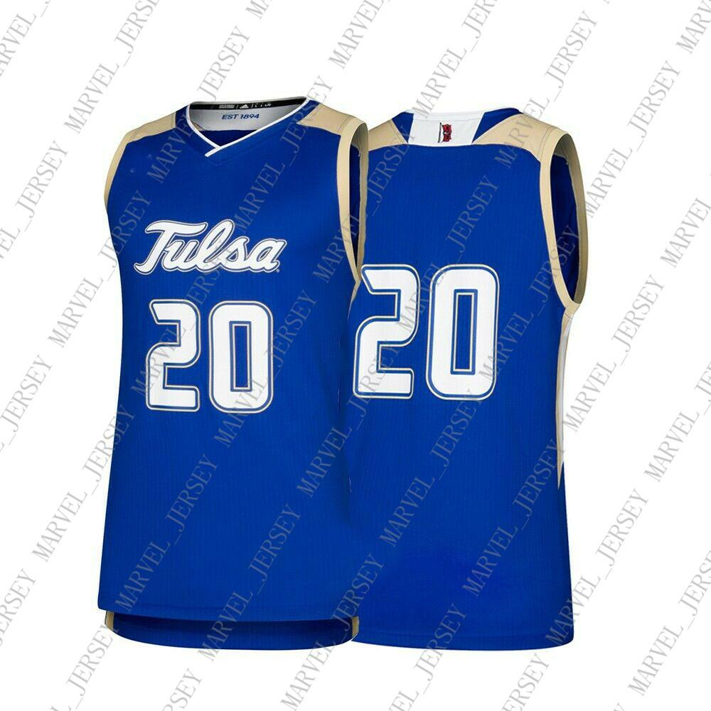 new style d5a2b 9450b Cheap Custom Tulsa Golden Hurricane NCAA #20 Blue Basketball Jersey  Personality stitching custom any name number XS-5XL