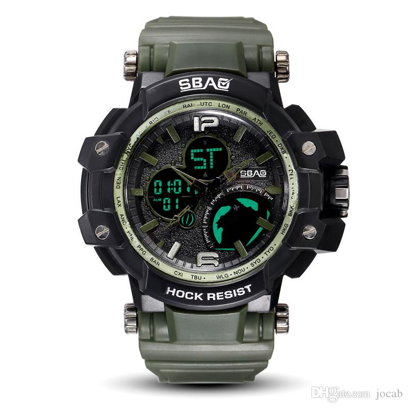 Digital Watches Top Brand Men Sports Watches Dual Display Analog Digital Led Electronic Quartz Wristwatches Waterproof Swimming Military Watch Choice Materials Men's Watches