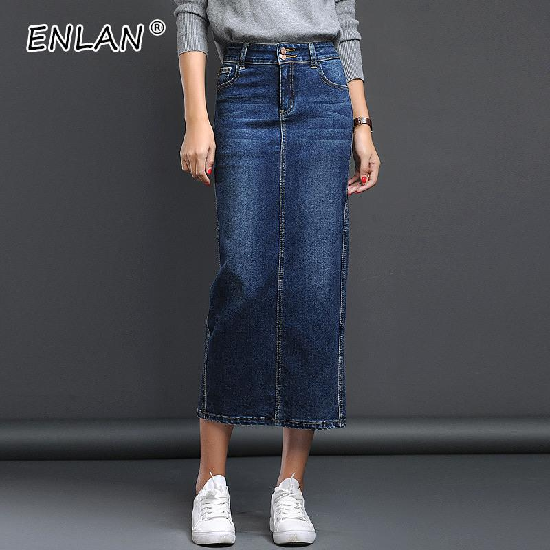 0d36bd82cb8 2019 Long Denim Skirt Female Spring Black Pencil Long Jeans Skirt Women  Button Denim Skirts For Women Summer Skirts Maxi From Edward03
