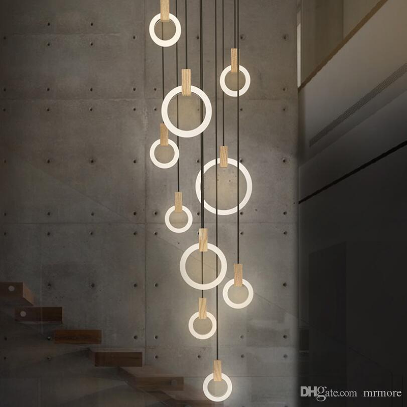 Großhandel Moderne LED Kronleuchter Nordischen Wohnzimmer ...