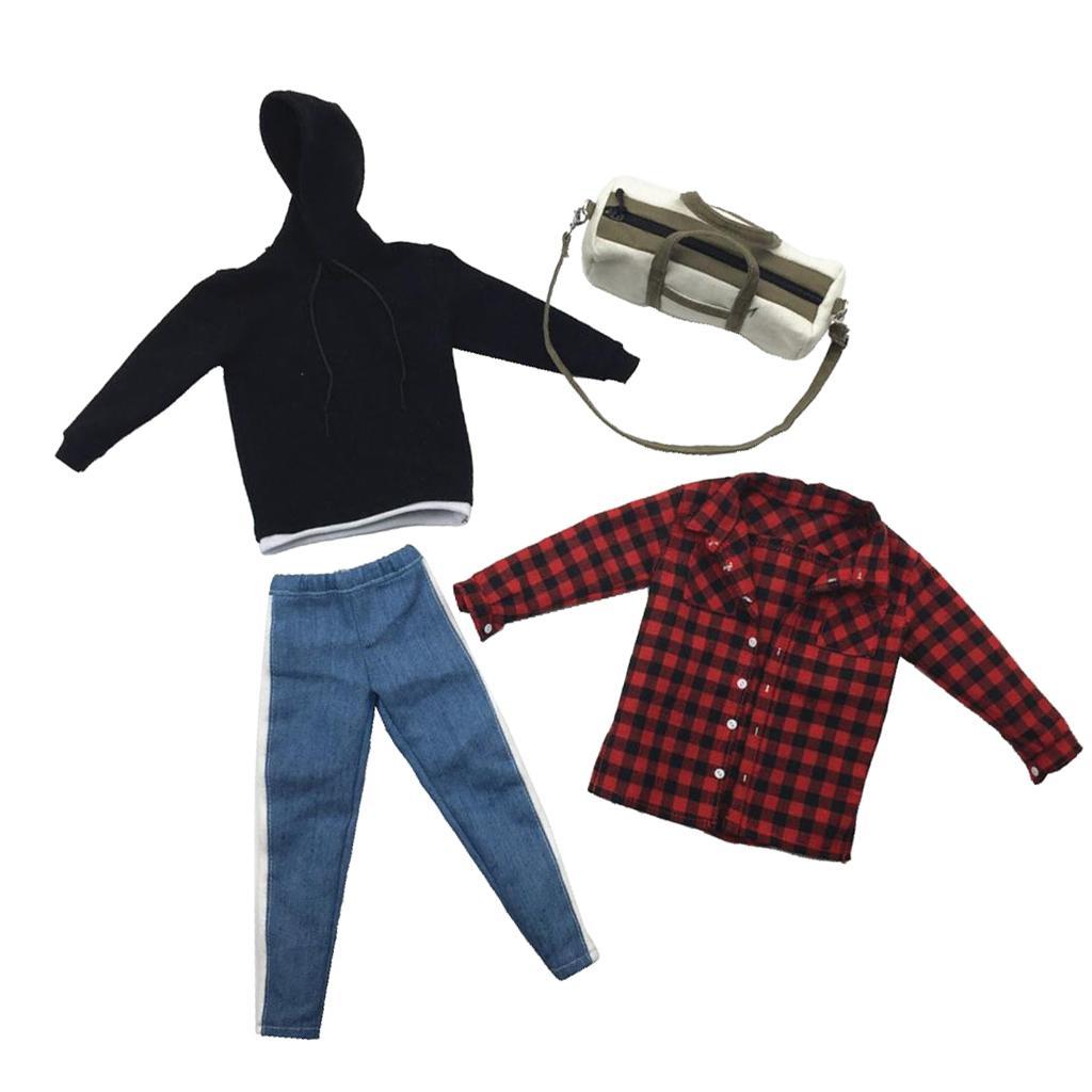 brand new 06b5b 4a80e commercio all ingrosso 1/6 uomini moda pantaloni corpo top con cappuccio  camicie borsa per drago dml giocattoli caldi 12 pollici action figure