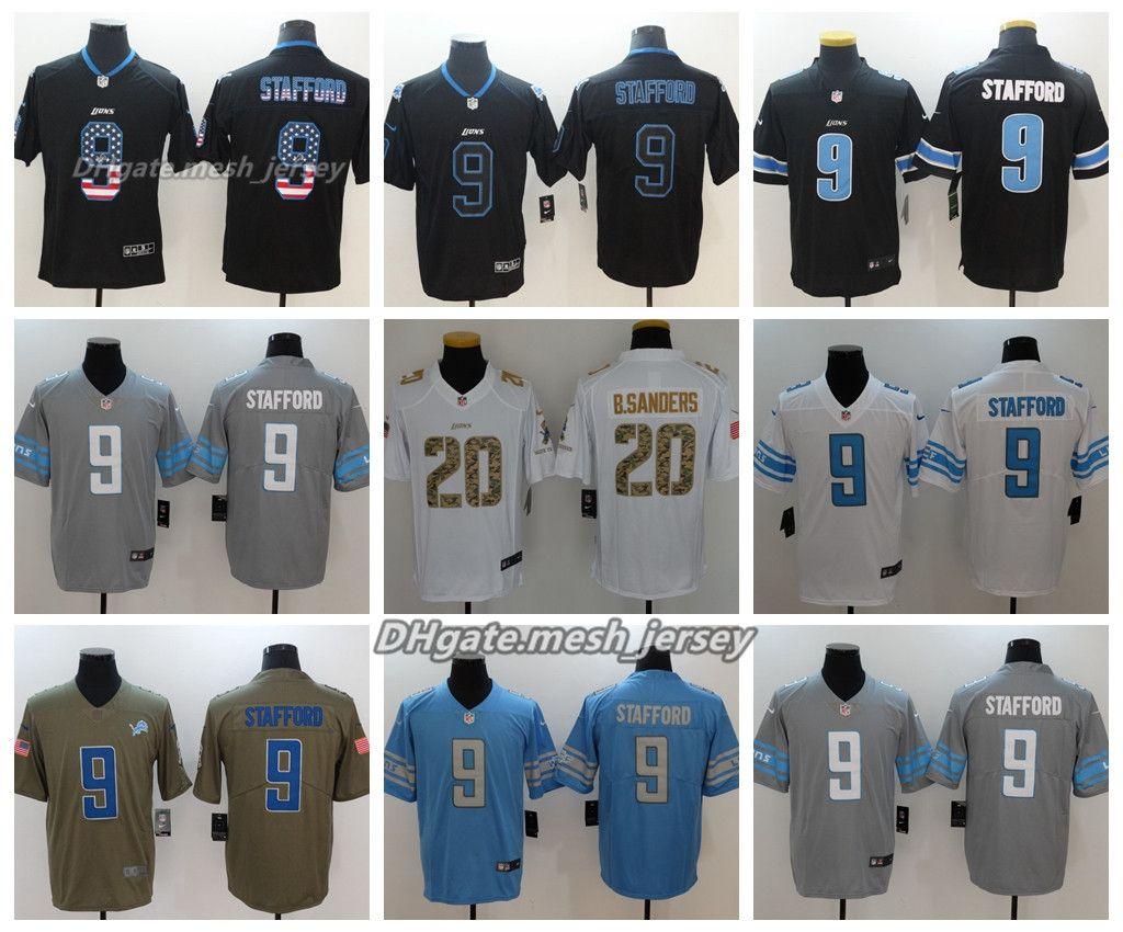 cad702ac4 ... netherlands men detroit jersey lions 9 matthew stafford 20 barry  sanders color rush football stitching jerseys ...