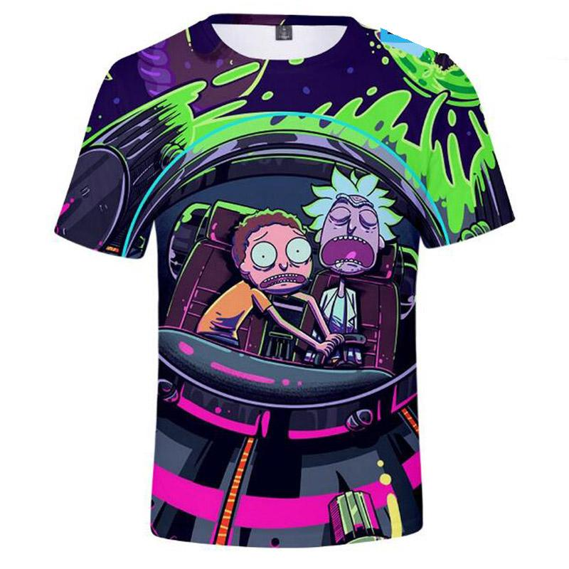 Supply Summer Anime Cool Rick Morty Print Men T Shirt Peace Among Worlds Folk T-shirt Fashion 3d Cartoon T-shirt Funny Short Tops Tees T-shirts