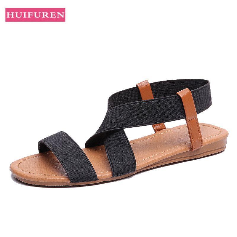 Home 2019 Mode Sommer Plattform Sandalen Frauen Flache Sandale Keile Schuhe Casual Frau Peep Toe Damen Plattform Sandalen