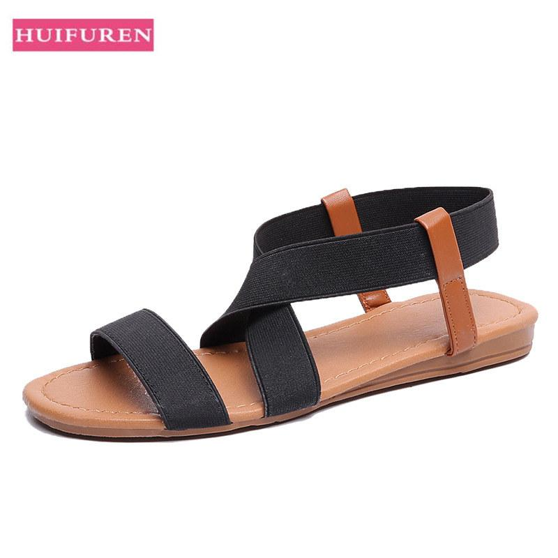 98ec3c2b38a9dd Women Sandals New 2019 Hot Fashion Shoes Woman Summer Beach Sandal Rome Style  Ladies Open Toe Flat Sandal Casual Female Shoes Nude Shoes High Heel Shoes  ...