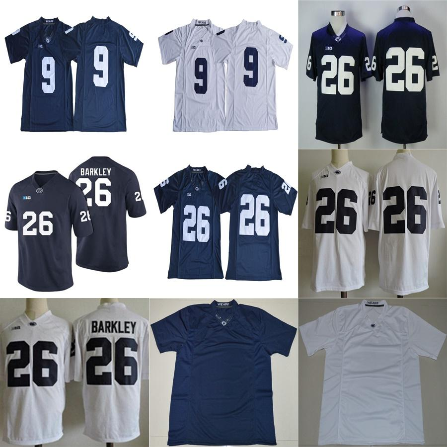 timeless design 24c1d 50a9a 26 Saquon Barkley 2017 Penn State Nittany Lions Jersey No Name Navy Blue  White Cheap College Football Jerseys Stitched S-XXXL Mixed Order