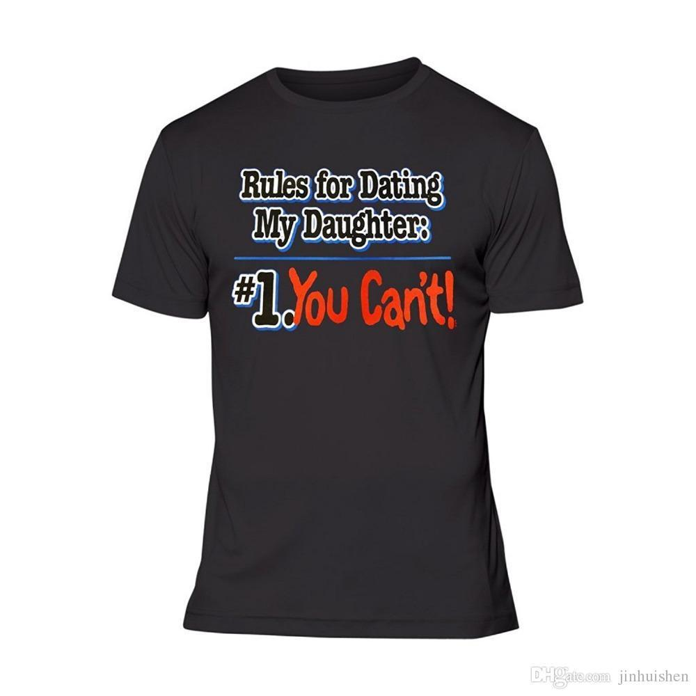 dating my daughter rules t-shirt