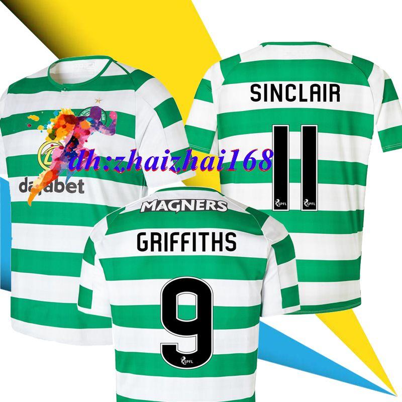 7a2e652965 2018 2019 Camisetas De Fútbol Celta Europa League Cup TIERNEY SINCLAIR  BROWN GRIFFITHS 18 19 HOGAR FORREST ROGIC Camiseta De Fútbol Camisetas Por  ...
