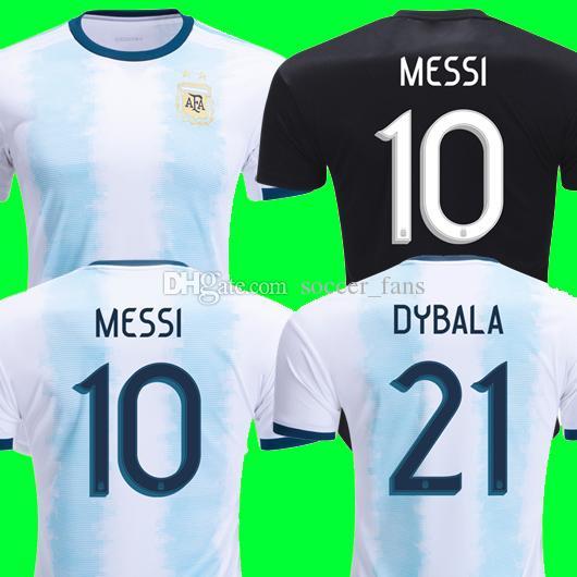 best website b1522 bf3ac 2019 Thailand Argentina soccer jerseys copa america 2019 2020 MESSI DYBALA  HIGUAIN ICARDI Camisetas de futbol football top soccer shirt kit