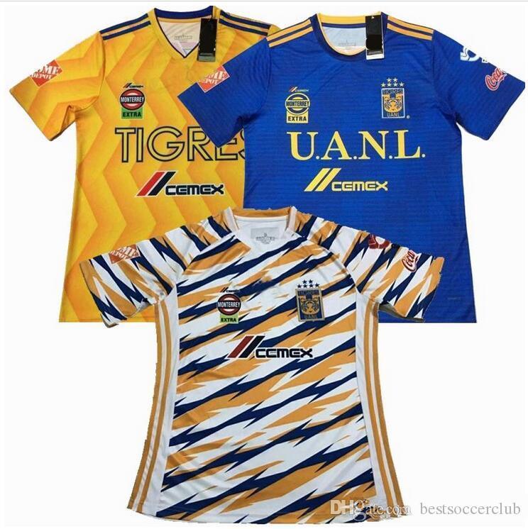 b598a85e60b 2019 2018 2019 UANL TIGRES New Third Soccer JERSEYS 18/19 Mexico Club LIGA  MX Women Men Maillot De Foot Home Yellow 6 Star GIGNAC Football Shirts From  ...