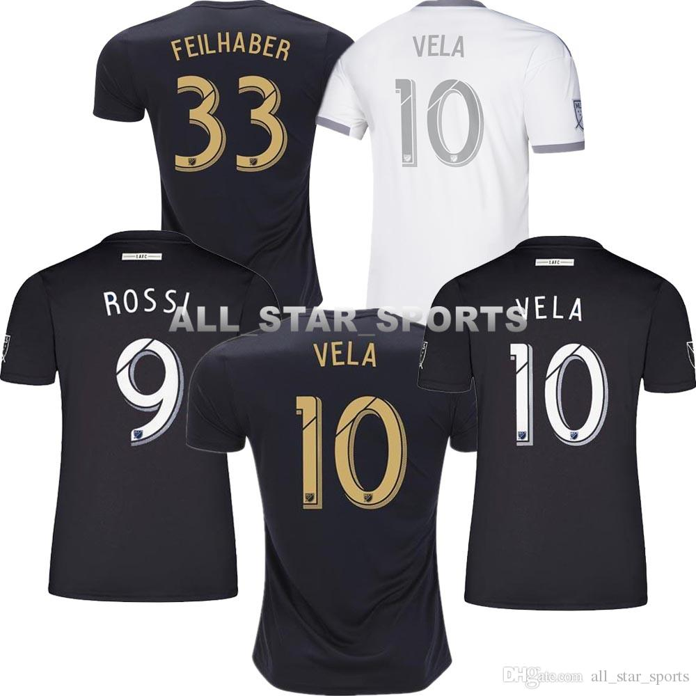 0090093cf 2019 New Arrived 2019 LAFC Carlos Vela Soccer Jerseys 18 19 20 Home X  ZELAYA ROSSI Los Angeles FC Black Parley Football Shirts From  All star sports