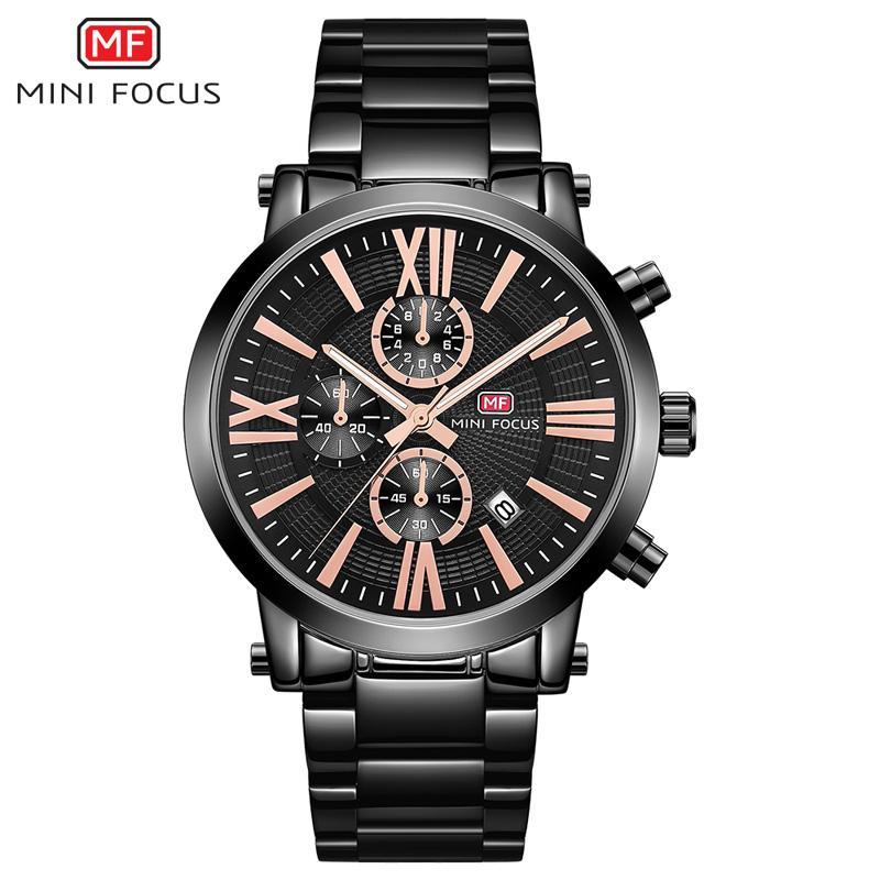 73709d4d968 Compre MINIFOCUS Homens Relógios De Luxo Da Marca De Quartzo Relógio ...