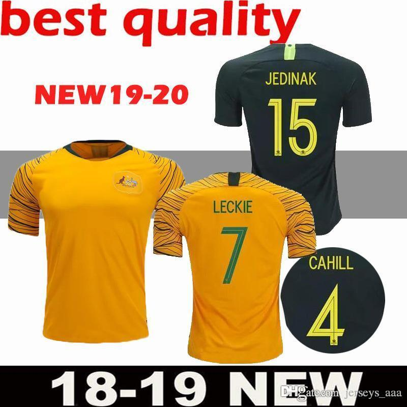 71e56d652 World Cup 2018 Australia Soccer Jersey Home Yellow Away Green 18 19 JEDINAK  LECKIE MILLIGAN CAHILL Football Shirts Top Quality Cstomize UK 2019 From ...