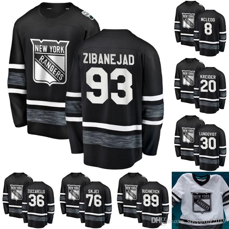 2019 2019 All Star Game Jersey New York Rangers 93 Mika Zibanejad 20 Chris  Kreider 13 Kevin Hayes 8 Cody McLeod 72 Filip Chytil Hockey Jerseys From ... 8add0c067
