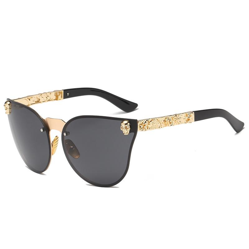 ff56469df MuseLife 2019 Fashion Women Gothic Sunglasses Skull Frame Metal Temple High  Quality Sun Glasses Oculos De Sol Feminino Luxury Cool Sunglasses Custom ...