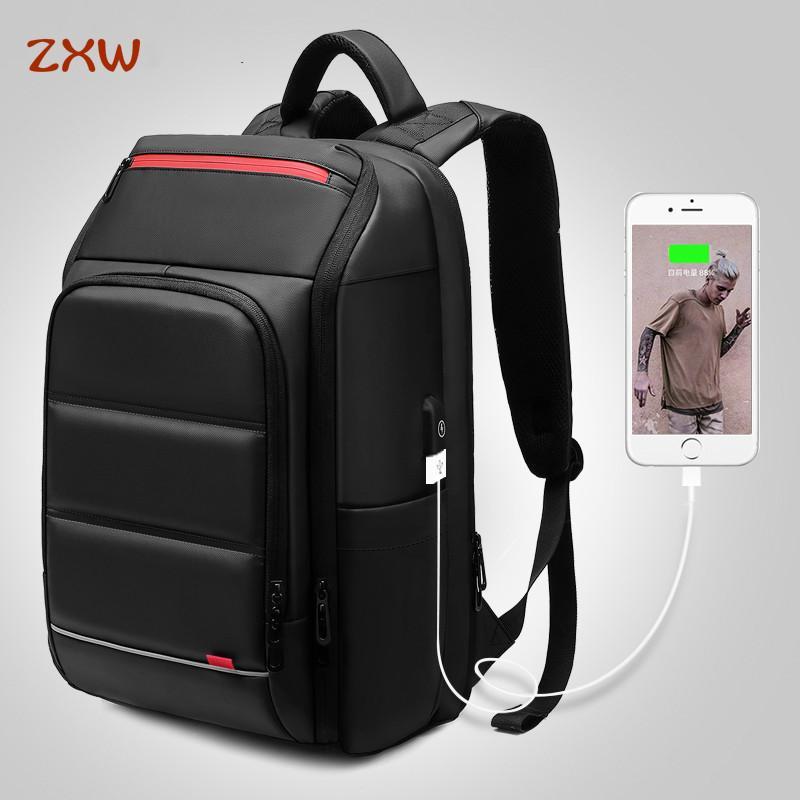 c9187342dcfb Fashion NEW 15.6 Inch Laptop Backpack for Men Water Repellent Functional  Rucksack with USB Charging Port Travel Backpacks Male Shoulder Bag