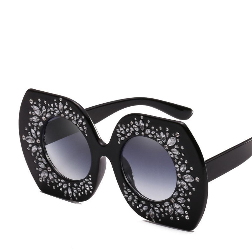 38888ad65eb6 New Women Over Sized Sunglasses Fashion Bling Bling Style Lady Street Beach  Brand Glasses Luxury Big Frame Sunglass UV Protection Eyewear Sunglasses At  ...