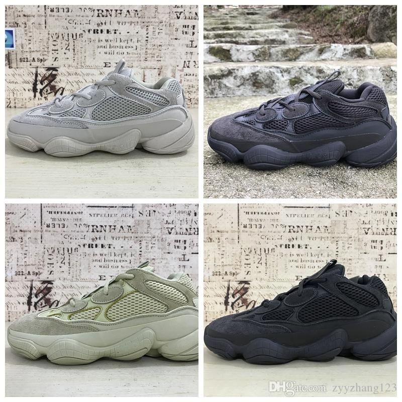 more photos 35001 8e34a 2019 500 salt Blush Utility Black Desert Rat 500 Super Moon Yellow running  shoes sneaker trainer with box free shipping wholesale price