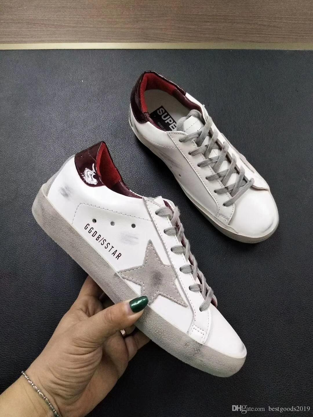 2e163addf5804 Golden Goose Deluxe Brand GGDB Best Quality Womens Men Old Style Sneakers  Genuine Leather Villous Dermis Shoes Sneakers Boots 57 Mens Dress Shoes  Platform ...