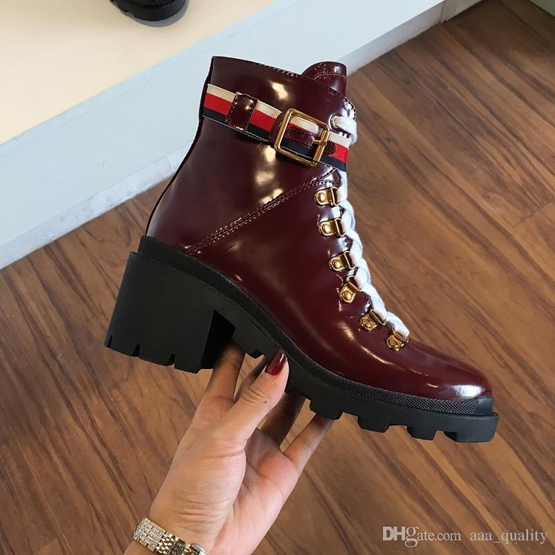 891c931012a Leather Ankle Boot With Sylvie Web Womens Martin Boots Luxury Brand Winter  Chunky Heel Boots Australia Classic Outdoor Climbing Hiking Boots Black  Boots For ...