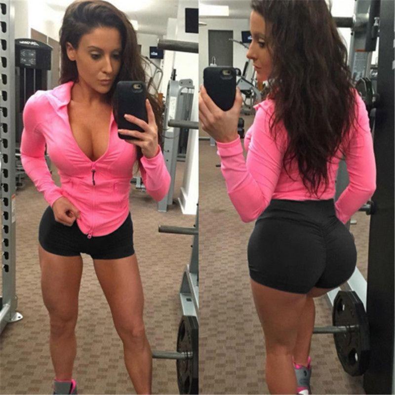 90b84535ddea9 2019 Fashion Casual Slim Solid Women High Waist Gym Yoga Running Shorts Hip  Shaper Tight Summer Clothes For Girls #381074 From Feiteng001, $14.97 |  DHgate.