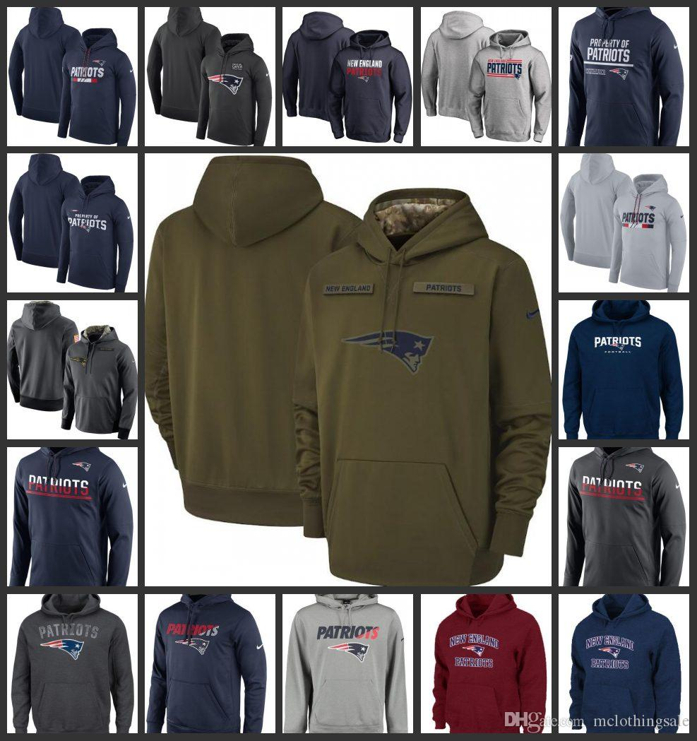 2019 New England Patriots Men Women Salute To Service Sideline Therma  Performance Pullover Hoodie From Nfl  jersey d341ea246
