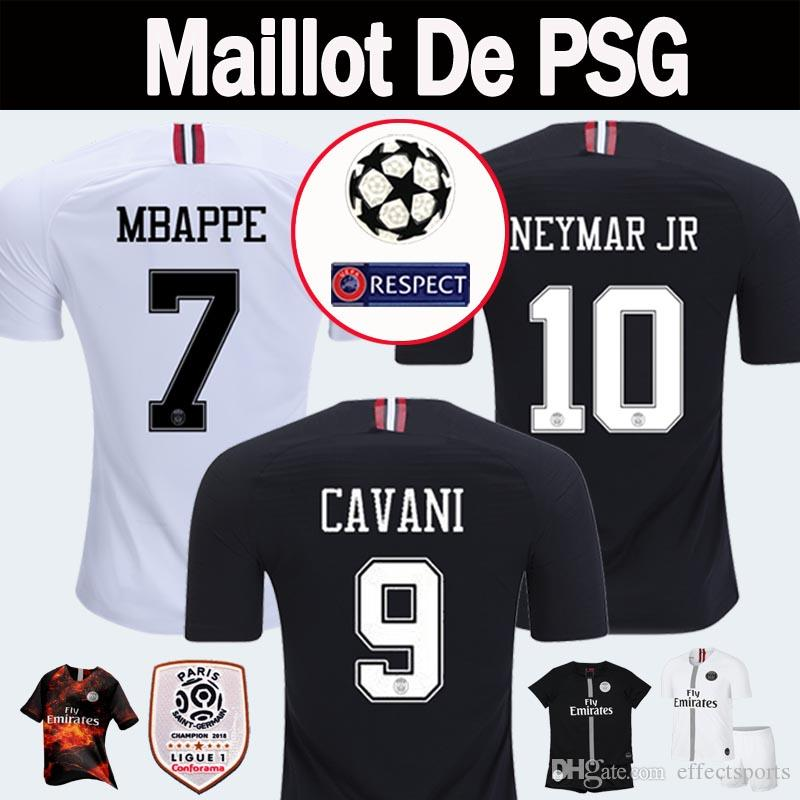 2019 2018 2019 PSG Third Maillot MBAPPE Soccer Jerseys 4th CAVANI Thailand  18 19 Paris Football Shirt CHAMPIONS LEAGUE Camiseta De Futbol Kits From ... 21815fc40