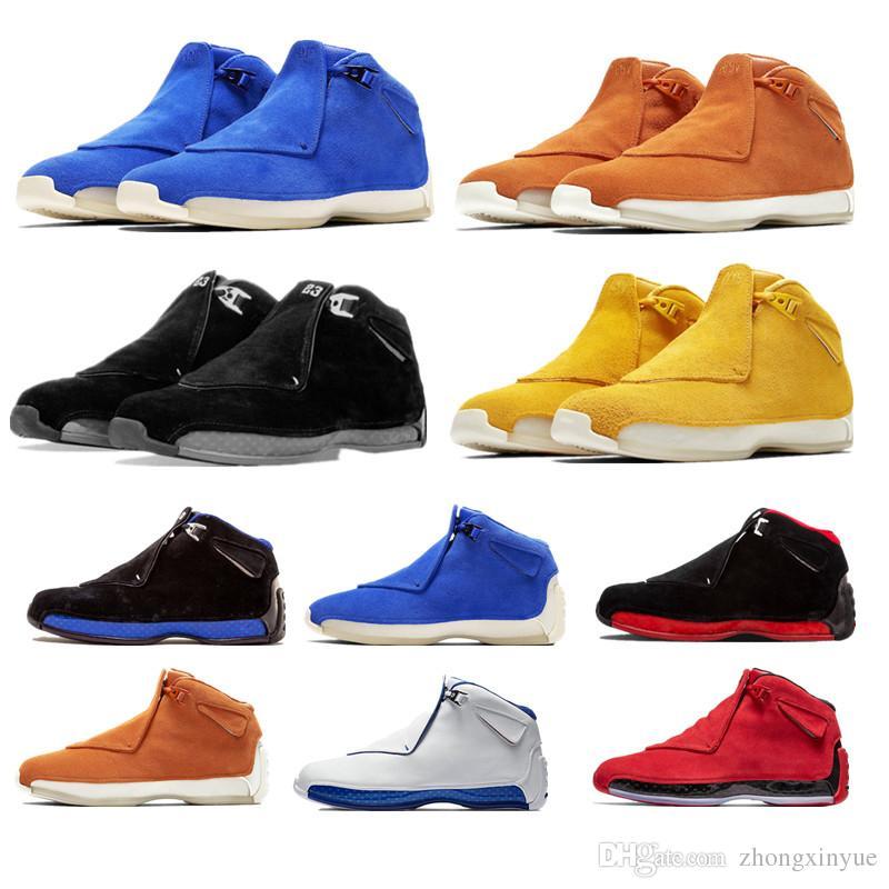 33985115c2d3 New Designer Man 18 18s Basketball Shoes XVIII Black Blue Suede Yellow  Orange Sport Royal Toro Good Athletic Mens Sneaker Shoe Sneakers For Women  Shoes Kids ...