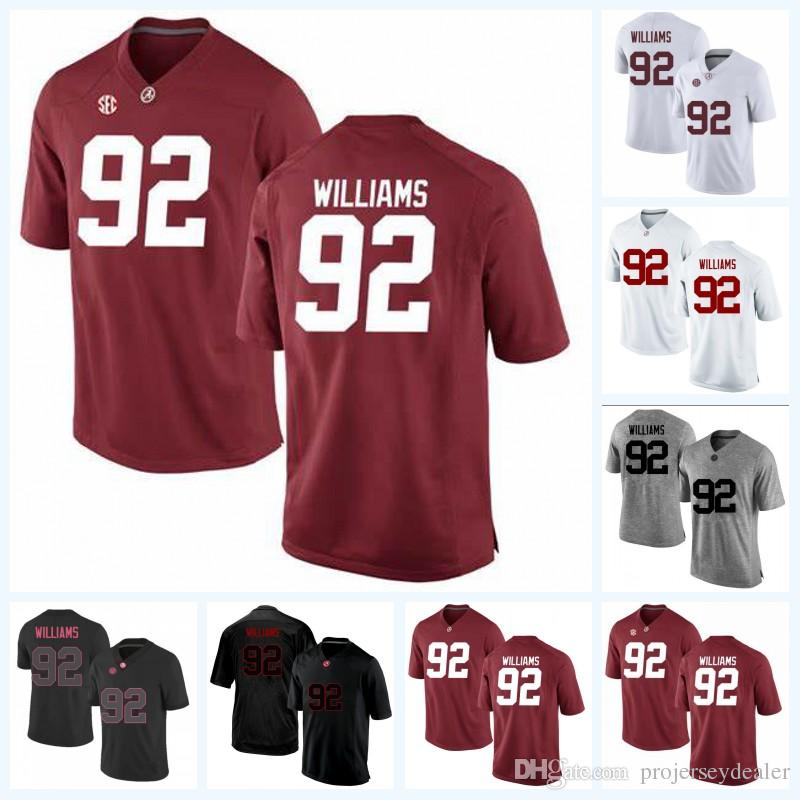 7e97dfb077f 2019 92 Quinnen Williams 13 Tua Tagovailoa Alabama Crimson Tide NCAA  College Football Jersey For Mens Womens Youth Double Stitched Name & Number  From ...