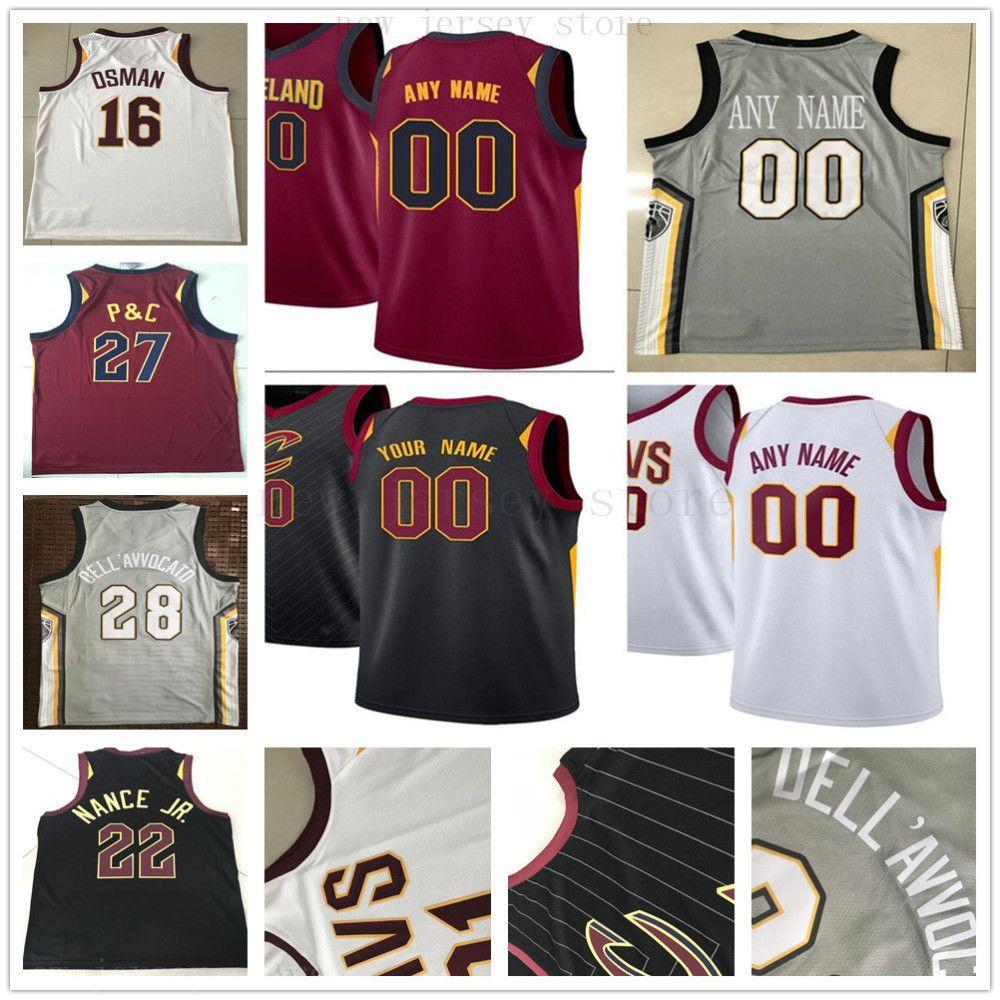 big sale a4c7c a76fd Custom Printed Cleveland 20 Brandon Knight 8 Clarkson 31 John Henson 18  Matthew Dellavedova 41 Ante Zizic Cavaliers Basketball Jersey