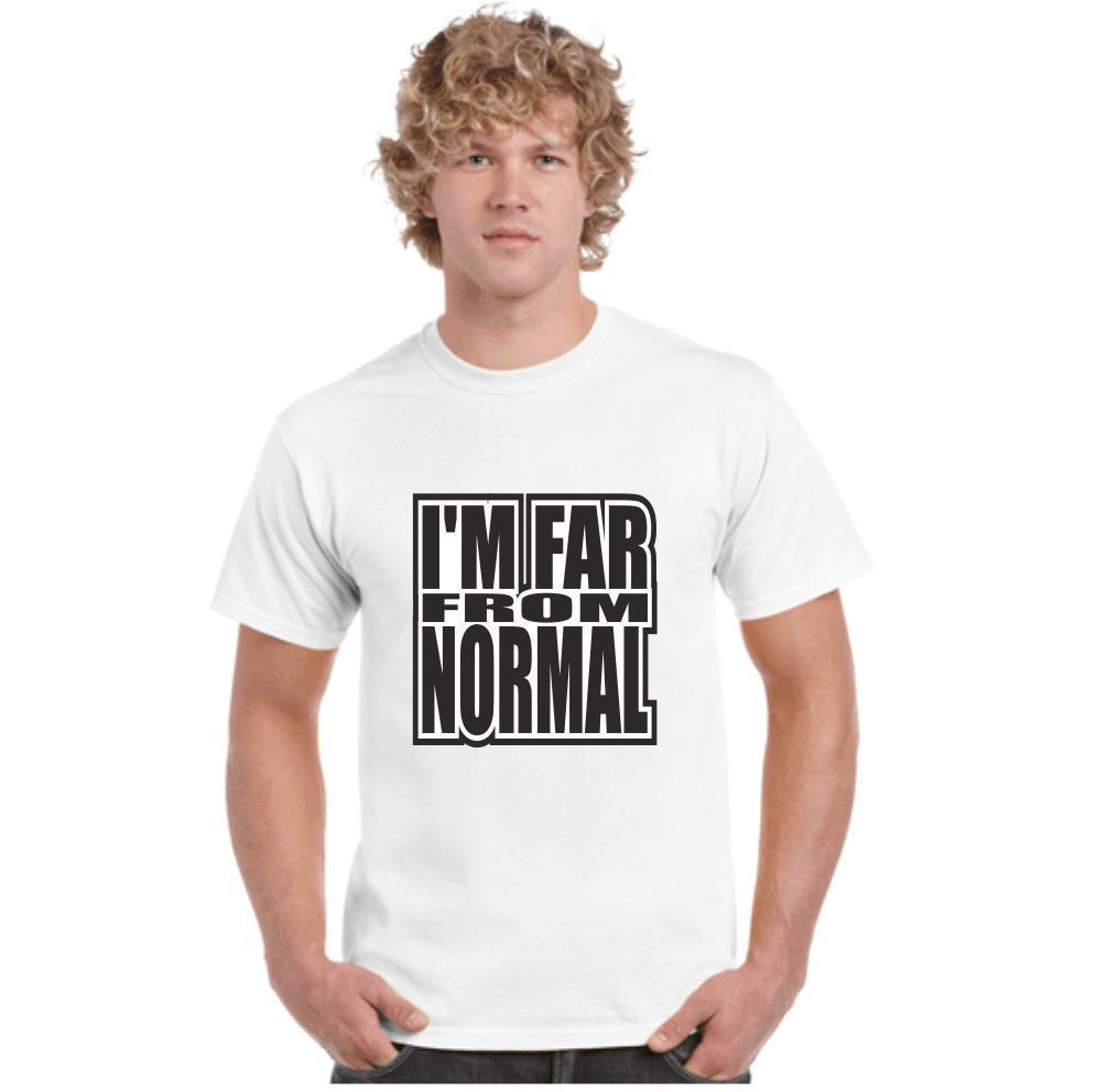 4d985eb2 I'M FAR FROM NORMAL, FUNNY, T SHIRTS, TEES,FESTIVALS, JOKES, FUNNY,  COSTUMES Graphic Tee Shirts T Shirt Sayings From Jie47, $14.67| DHgate.Com