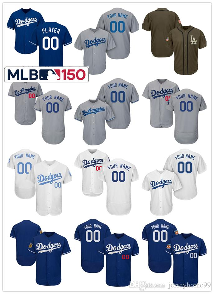 2019 2019 Los Angeles Dodgers Customized Baseball Jerseys With 150 Patch  Men Women Toddlers Clayton Kershaw Justin Turner Jersey Cody Bellinger From  ... ec4eeb1d624