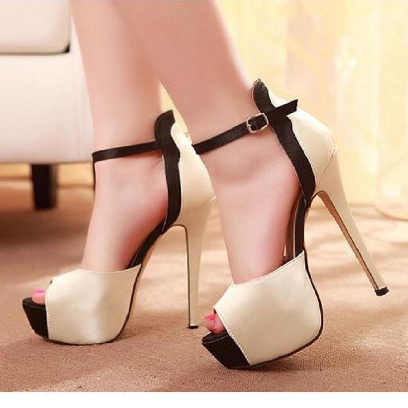 Compre Tacones Altos De Verano Sandalias De Las Mujeres Plataforma De Moda  Punta Abierta Estilete Sexy Para Mujer Zapatos De Gran Tamaño Zapatos Mujer  ... 89c4ba61ccb0